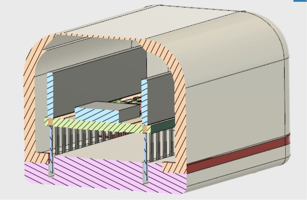 Cross section of CAD model